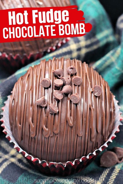 A fun twist on a DIY Hot Chocolate Bomb, these Hot Fudge Chocolate Bombs have a surprise fudge center that makes these hot chocolate bombs extra-luxurious.