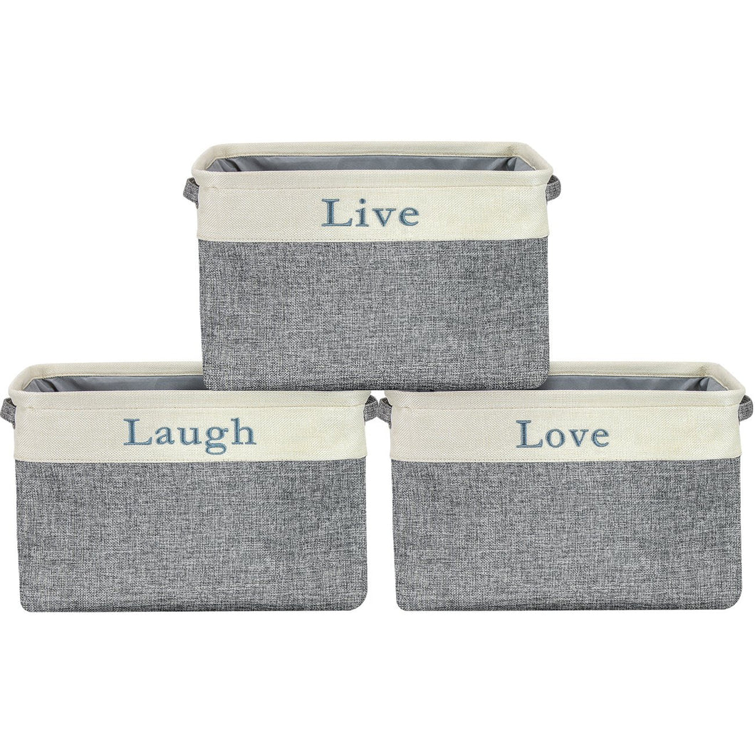 Twill Storage Basket Set -