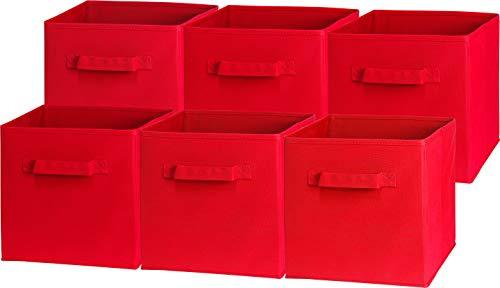 - Simplehouseware Foldable Cube Storage Bin, Red