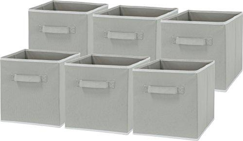 - Simplehouseware Foldable Cube Storage Bin, Grey