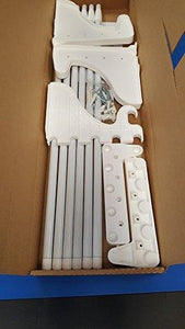 Selection ez shelf diy expandable closet shelf rod 42 75 mounts to back wallwith 2 end brackets white