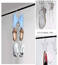 Load image into Gallery viewer, Buy now megoday classico stainless steel closet organizer hanger for shoes 2 piece set metal clothespins s hook 2 piece set free