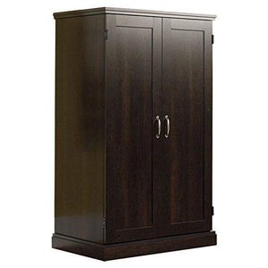 Try brown storage desk armoire computer workstation cabinet home organizer office shelves closet bedroom study executive furniture