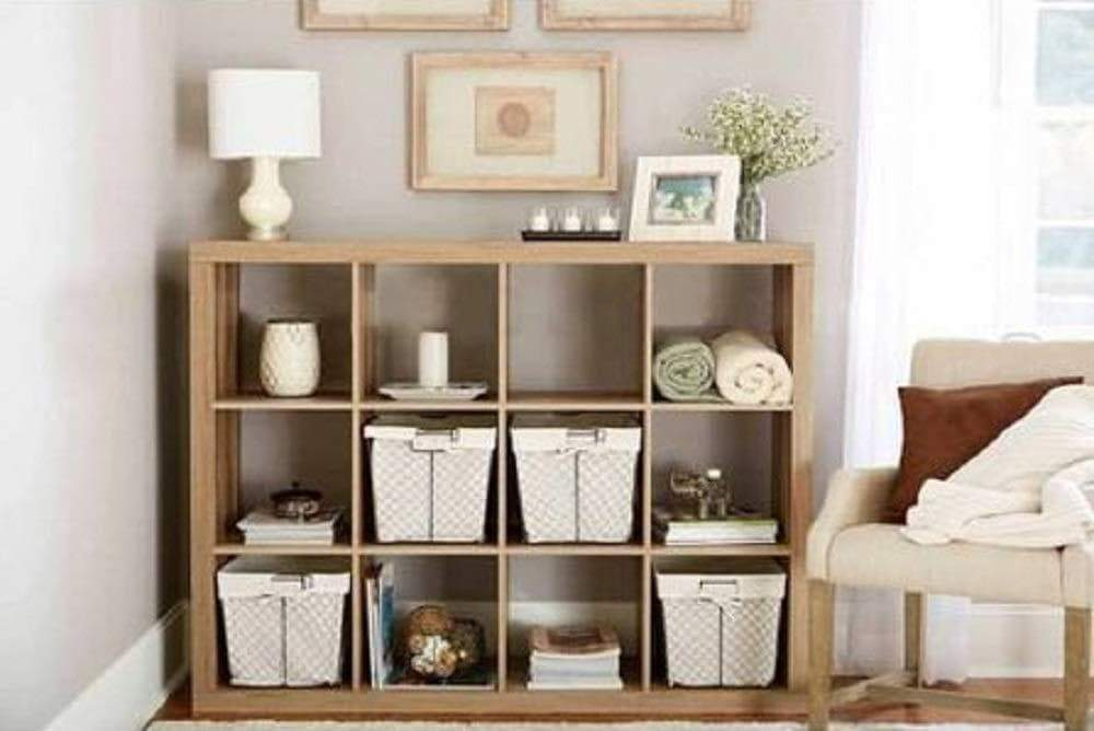 Better Homes and Gardens.. Bookshelf Square Storage Cabinet 4-Cube Organizer (Weathered) (White, 4-Cube) (Weathered, 12-Cube)