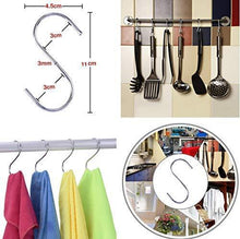 Load image into Gallery viewer, Budget megoday classico stainless steel closet organizer hanger for shoes 2 piece set metal clothespins s hook 2 piece set free