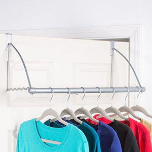 Heavy duty hold n storage over the door closet valet over the door clothes organizer rack and door hanger for clothing or towel home and dorm room storage and organization