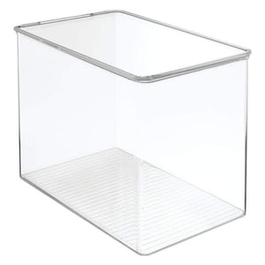 Budget friendly mdesign stackable closet plastic storage bin box with lid container for organizing mens and womens shoes booties pumps sandals wedges flats heels and accessories 9 high 6 pack clear