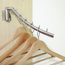 Load image into Gallery viewer, Buy now imeea closet hanger space saver swing arm wall mounted sus304 brushed stainless steel with 6 hooks 12 6inch 2 set