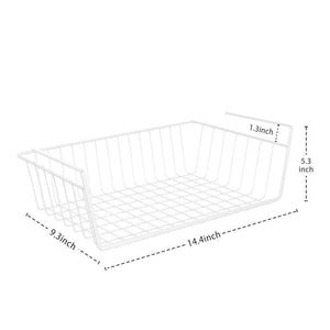 Selection under shelf basket ace teah 4 pack under shelf rack wire rack under shelf storage organizer saving spaces for pantry cabinet closet white