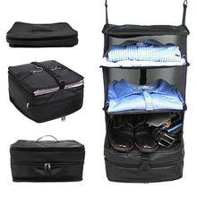 Load image into Gallery viewer, 3 Layers Luggage System Suitcase Organizer Bags Packable Hanging Travel Shelves & Packing Cube Organizer