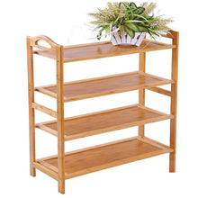 Load image into Gallery viewer, Best seller  gx xd simple multi layer bamboo shoe rack dust proof multifunction shoe tower shoe cabinet space saving easy to assemble shoe organizer unit entryway shelf organize your closet cabinet or entryway r