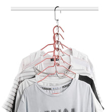 Load image into Gallery viewer, Shop for closet space saving hangers for clothes pants 10 5 inch metal wonder hangers stainless steel magic cascading hanger updated hook design closet organizer hanger