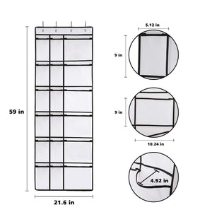 Featured kootek 2 pack over the door shoe organizers 12 mesh pockets 6 large mesh storage various compartments hanging shoe organizer with 8 hooks shoes holder for closet bedroom white 59 x 21 6 inch
