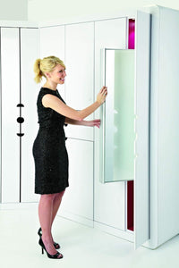 Organize with rev a shelf pullout closet mirror satin nickel