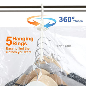 Storage taili hanging vacuum space saver bags for clothes 4 pack long 53x27 6 inches vacuum seal storage bag clothing bags for suits dress coats or jackets closet organizer and storage
