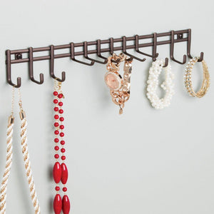 Try interdesign axis wall mount closet organizer rack for ties belts bronze