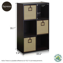 Load image into Gallery viewer, Furinno 6-Cube Organizer 13093EX