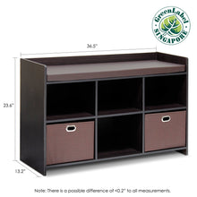 Load image into Gallery viewer, Furinno Storage Bench with Cushion 13138EX/EX/BR