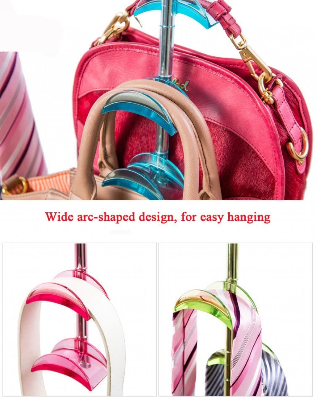 Select nice louise maelys 2 packs 360 degree rotating hanger rack 4 hooks closet organizer for handbags scarves ties belts