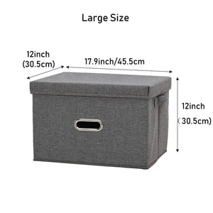Shop for polecasa storage bins with lid 2 pack removable lid collapsible stackable linen fabric storage cubes boxes containers organizer basket for home office bedroom closet and shelveslarge 38l