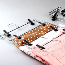 Load image into Gallery viewer, Budget friendly wth shopping go pants hangers sturdy s type stainless steel trousers rack 5 layers multi purpose closet hangers magic space saver storage rack perfect pants towel scarf etc 3