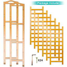 Load image into Gallery viewer, The best anko bamboo shoe rack natural bamboo thickened 6 tier mesh utility entryway shoe shelf storage organizer suitable for entryway closet living room bedroom 1 pack
