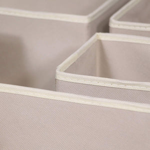 Kitchen diommell 9 pack foldable cloth storage box closet dresser drawer organizer fabric baskets bins containers divider with drawers for baby clothes underwear bras socks lingerie clothing beige 333