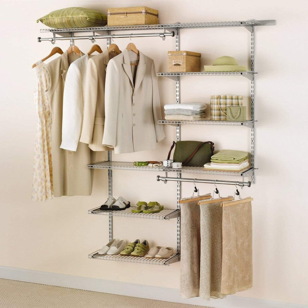 Save rubbermaid configurations 3h8800 3 to 6 foot deluxe custom closet kit