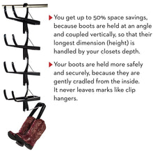 Load image into Gallery viewer, Discover the best boot butler boot storage rack as seen on rachael ray clean up your closet floor with hanging boot storage easy to assemble built to last 5 pair hanger organizer shaper tree