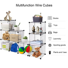Load image into Gallery viewer, Best tangkula wire storage cubes metal wire free standing modular shelving grids diy bookcase closet wardrobe organization storage cubes 12 cubes