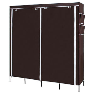 Shop here songmics 67 inch wardrobe armoire closet clothes storage rack 12 shelves 4 side pockets quick and easy to assemble brown uryg44k