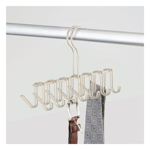 Shop for mdesign over the rod closet rack hanger for ties belts scarves pack of 2 satin