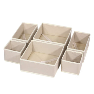 Explore diommell 6 pack foldable cloth storage box closet dresser drawer organizer fabric baskets bins containers divider with drawers for clothes underwear bras socks lingerie clothing