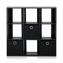 Load image into Gallery viewer, Furinno 9-Cube Organizer 13207EX/BK
