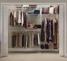 Load image into Gallery viewer, Shop for closetmaid 22875 shelftrack 5ft to 8ft adjustable closet organizer kit white