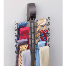 Load image into Gallery viewer, Save on mdesign wall mount tie and belt rack organizer for closet storage bronze
