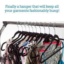 Load image into Gallery viewer, Discover topgalaxy z velvet suit hangers 20 pack closet clothes hangers non slip hangers for coat hanger pants hangers dorm hangers black