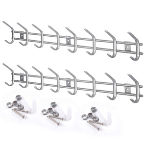 Best webi wall mounted coat hooks stainless steel 304 heavy duty c wall hooks rail robe hook rack for bathroom kitchen entryway closet b c cbg08 2 8 hooks satin 2 pack