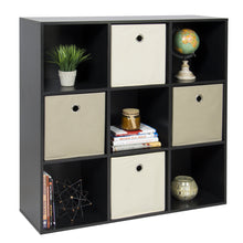 Load image into Gallery viewer, 9-Cube Bookshelf Storage Display w/ Removable Panels