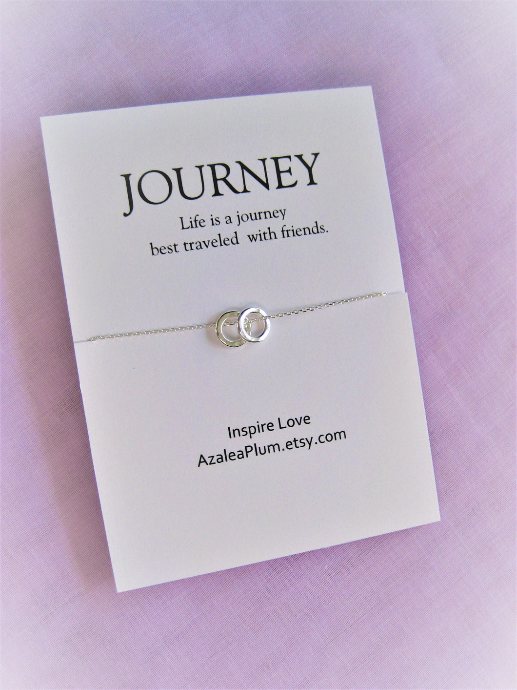 Best Friend Necklace: Solid Sterling Silver Necklace, BFF Necklace, Best Friend Gift Jewelry, Long Distance, Quotes, Friends Forever