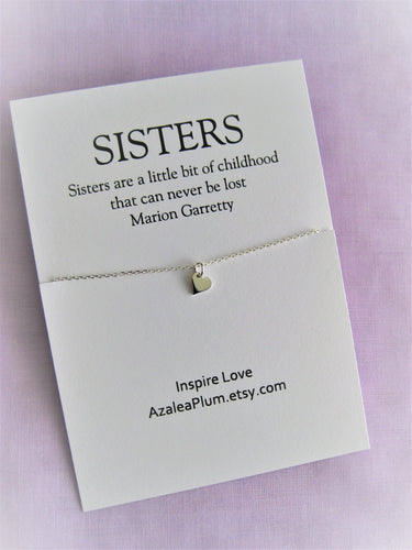 Sister Gift, Solid Sterling Silver Necklace, Birthday Gift, Birthday, Sister, Gift, Sisters, Sister birthday Gift, SISTER Necklace