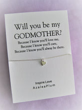 Load image into Gallery viewer, Godmother Gift, Godmother, Godmother Proposal, Fairy Godmother, Be My Godmother, Godmother Request, Solid Sterling Silver Godmother Necklace