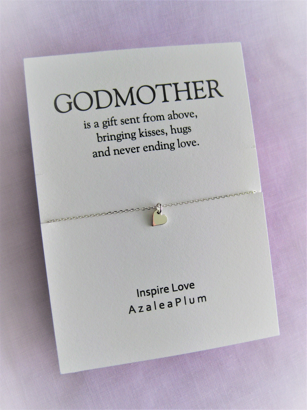 Godmother GIFT, Godmother, Godmother Proposal, Fairy Godmother, Be My Godmother, Godmother Request, Solid Sterling Silver Godmother Necklace