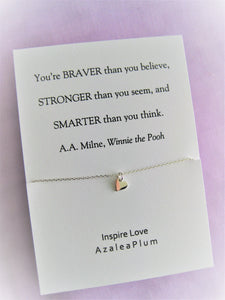 Graduation Gift, Solid Sterling Silver Necklace, college graduation, 2020 high school, Graduation Gift for Her, Inspirational Gifts for Her