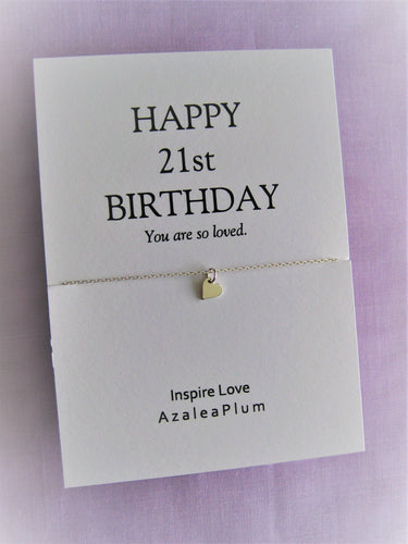 21st Birthday Gift For Daughter, Solid Sterling Silver Necklace, 21st Birthday Ideas, 21st Birthday Gift For Her - 21st Birthday Necklace