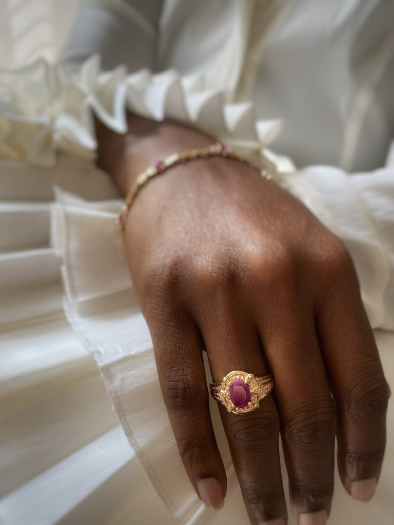 10K Ruby Oval Ring