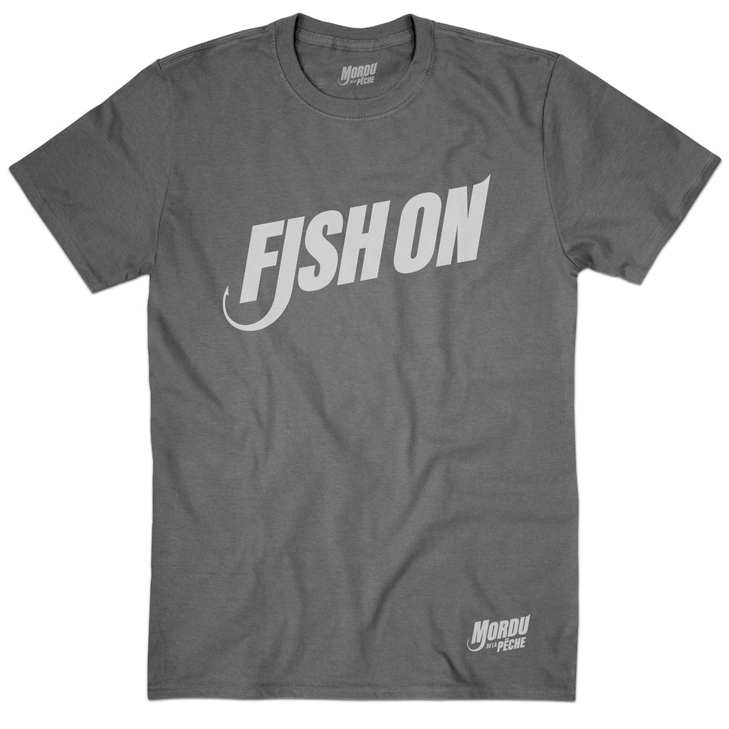 T-shirt homme Fish on - Charcoal
