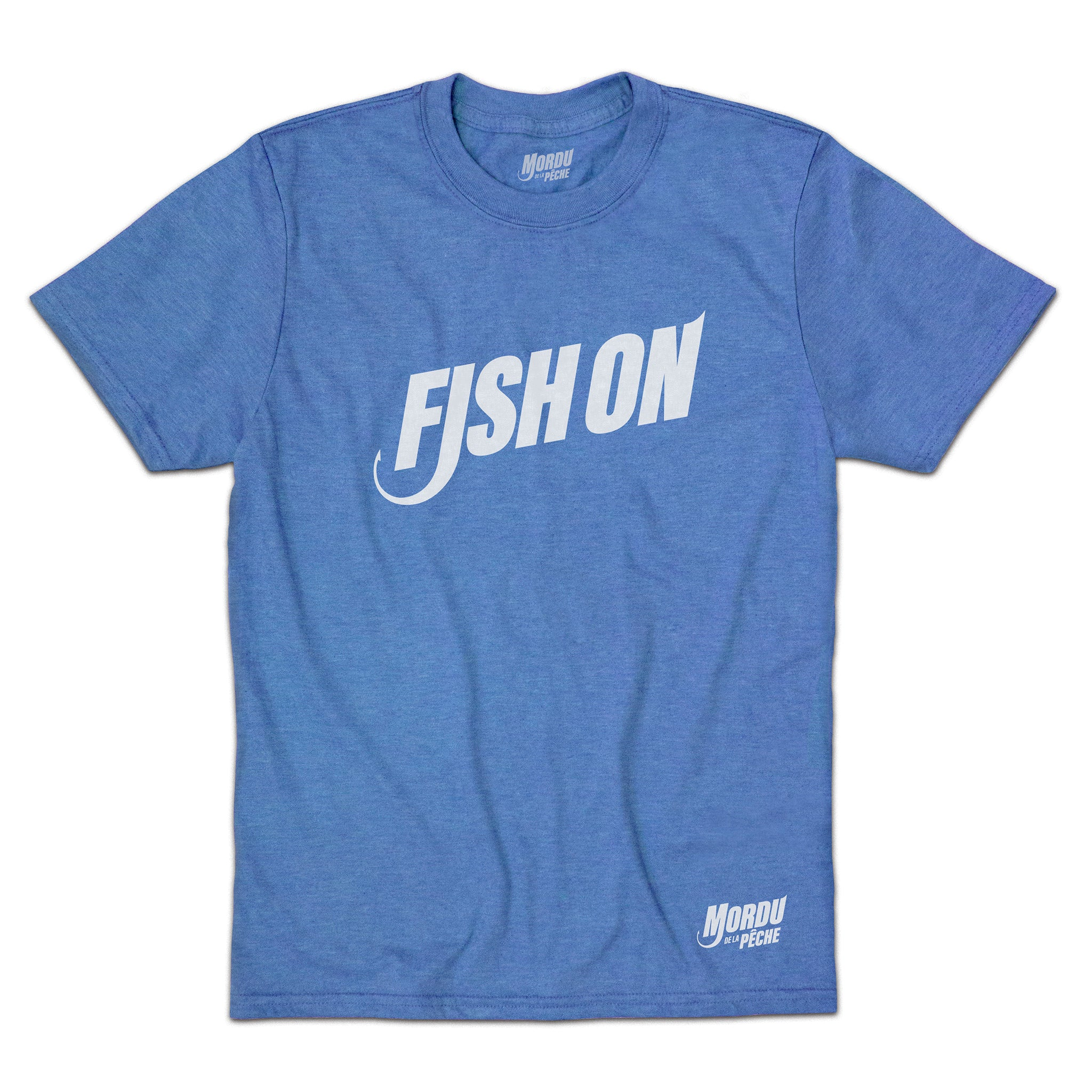 T-shirt enfant Fish on - Royal chiné