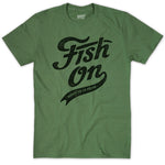 T-shirt Homme Fish on vintage - Vert