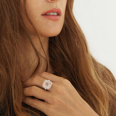 Celebrations Ring Rose Quartz